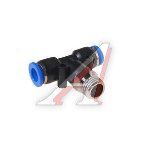 """Фитинг для пластиковых трубок 1/4"""" Т-образный 8мм с наружной резьбой ROCK FORCE RF-SPB08-02"""