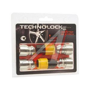 Гайка колеса М12х1.25х36 секретки конус закрытая комплект 4шт. 2 головки 19/21мм TECHNOLOCK TL-R, R