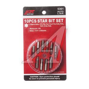 """Набор бит 1/4"""" TORX Т7-Т40 в кейсе 10 предметов JTC JTC-5361"""