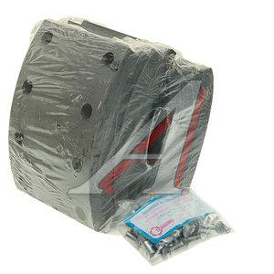 Накладка тормозной колодки КАМАЗ-53215,65115 (13-) сверленая расточен. комплект 8шт. с заклепками 53205-3501105-51к, 53229-3501105к, 53205-3501105-51