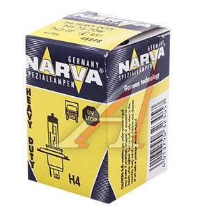 Лампа 24V H4 75/70W P43t Heavy Duty NARVA 488983000, N-48898HD, АКГ 24-75-70 (Н4)