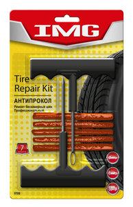 Набор для ремонта бескамерных шин (шило, рашпиль, 5 жгутов коричневых) профессиональный VICTOR VICTOR V106, V106