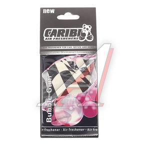 Ароматизатор подвесной пластина (bubble gum) Formula-1 CARIBI CRB-F1 жвачка