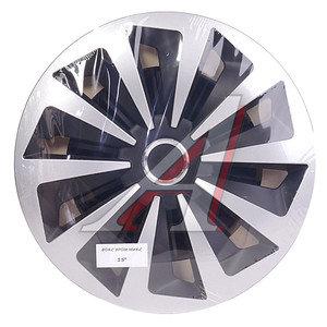 Колпак колеса R-15 черный/хром микс комплект 4шт. ФОКС ХРОМ МИКС ФОКС ХРОМ МИКС R-15