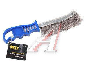 Щетка металлическая с пластмассовой ручкой FIT FIT-38410, 38410