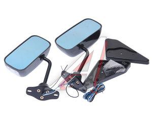 Зеркало боковое Формула-1 светодиодный повторитель,черное комплект PRO SPORT RS-05714