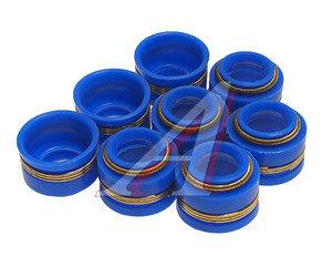 Колпачок КАМАЗ маслоотражательный синий силикон (упаковка 8шт.) 740.1007262-01, 740.1007262