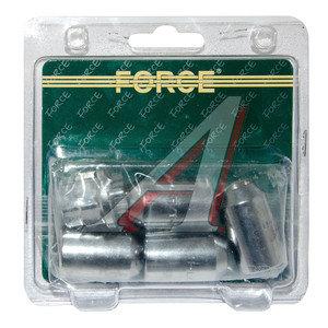 """Гайка колеса 1/2"""" RH секретки удлиненная 5 предметов набор FORCE F-644205"""