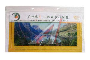 Коврик на панель приборов универсальный противоскользящий 400х160 с рисунком горное озеро ART8108