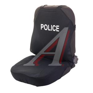 """Авточехлы (майка) велюр на передние сиденья черные """"POLICE"""" (2 предм.) Hotprint Front H&R 21154 H&R, HOTPRINT POLICE H&R"""