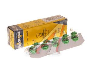 Лампа 24V 1.4W BAX8.4d зеленый патрон NARVA 17082, N-17082
