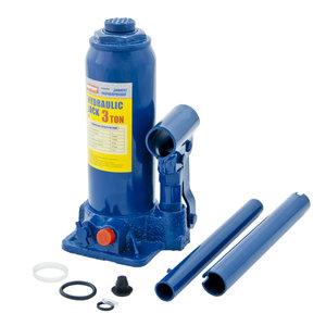 Домкрат бутылочный 3т 194-372мм с клапаном в кейсе MEGAPOWER M-90304S, ДГТ3-3913010