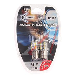 Лампа светодиодная 12V P21W блистер (2шт.) XENITE 1009238, BS187