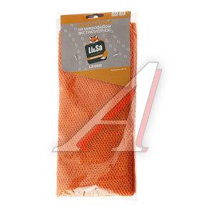 Салфетка микрофибра универсальная вафельное 43х64см оранжевая LI-SA 44152, LS0101