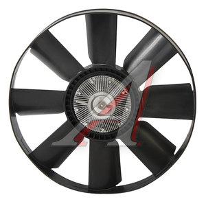 Вентилятор КАМАЗ-ЕВРО 600мм с вязкостной муфтой и обечайкой в сборе (дв.CUMMINS до 2009г.) 020003248, 6311383A