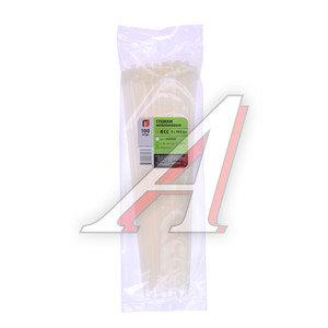 Хомут-стяжка 350х5.0 пластик белый (100шт.) FORTISFLEX 1005350, 49405