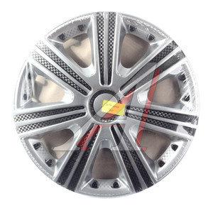 Колпак колеса R-15 серый карбон комплект 4шт. ДТМ СУПЕР ДТМ СУПЕР R15