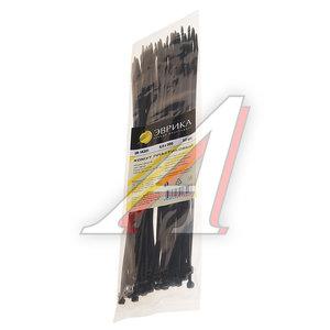 Хомут-стяжка 300х4.0 пластик черный (50шт.) ЭВРИКА ER-14301, CHS-4x300B-50