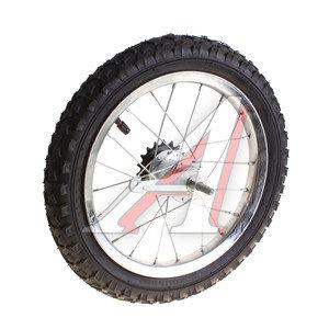 """Колесо велосипедное 14"""" заднее обод сталь хромированное в сборе 630119"""