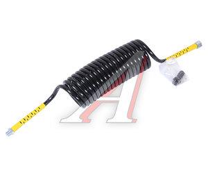 Шланг пневматический витой M18х35мм+M16 штуцер-штуцер (желтый) DIESEL TECHNIC 1.21670, 10053