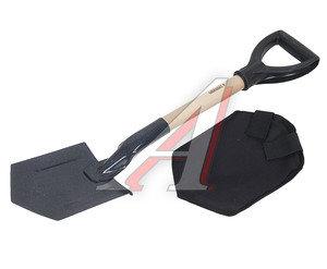 Лопата автомобильная с деревянным черенком в чехле СЛЕДОПЫТ PF-SF-03