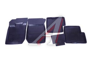 Коврик салона RENAULT Duster 2AWD резина черный (4 предм.) ДВА КОЛЕСА ADRJET023 (55-01-102), Два Колеса
