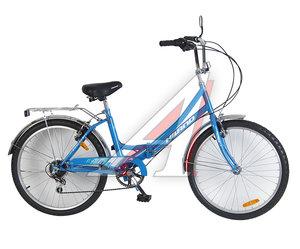 """Велосипед 24"""" 6-ск. складной голубой HILAND T19B706 B, 163"""