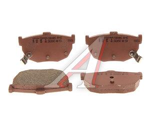 Колодки тормозные HYUNDAI Elantra (XD) (00-),Coupe (02-) KIA Cerato (03-) задние (4шт.) JAKOPARTS J3611026, GDB1010