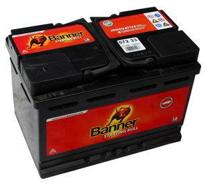 Аккумулятор BANNER Starting Bull 72А/ч 6СТ72 572 33, 83570