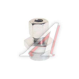 Штуцер соединительный прямой M22х8мм (фитинг резьбовой-гайка) сталь PE 07601300A, 8938002240