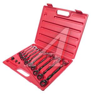 Набор ключей комбинированных трещоточных 8-19мм 13 предметов в кейсе JTC JTC-3028