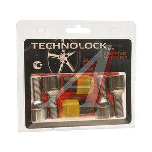 Болт колеса М14х1.5х28 секретки сфера комплект 4шт. 2 головки под ключ 17мм TECHNOLOCK TL-ZA, ZA