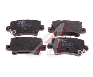 Колодки тормозные HONDA Civic 5D задние (4шт.) TRW GDB3408, 43022SMGE01/45022SMGE50