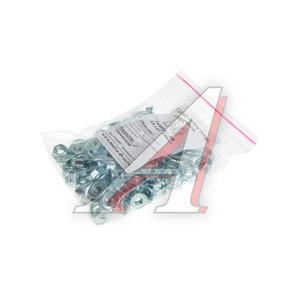Гайка М6х1.0х6 с фланцем шестигранная оцинкованная (100шт.) МЕТИЗНЫЙ ДВОР DIN6923, DIN 6923 зиплок
