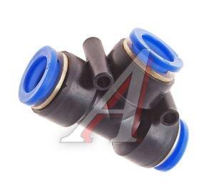 Соединитель трубки ПВХ,полиамид d=14мм тройник PUT14, АТ-356