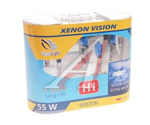 Лампа 12V H1 55W бокс (2шт.) Xenon Vision CLEARLIGHT MLH1XV
