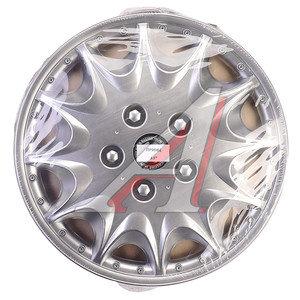 Колпак колеса R-15 серый комплект 4шт. ПРИНЦ ПРИНЦ R-15