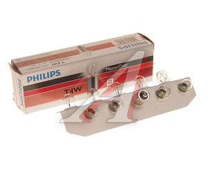 Лампа 24V T4W BA9s Master Duty PHILIPS 13929MDCP, P-13929MD, А24-4-1