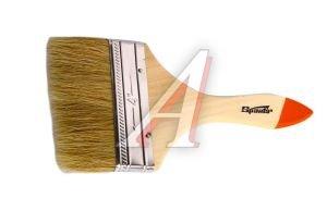 """Кисть плоская 4"""" натуральная щетина деревянная ручка Slimline SPARTA 824455"""