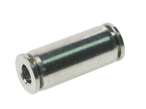 Соединитель трубки ПВХ,полиамид d=5мм прямой металлический MPUC05, АТ-0381