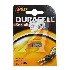 Батарейка A27 MN27 12V (пульт сигнализации) блистер (1шт.) Alkaline Security DURACELL D-MN27бл