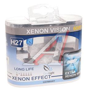 Лампа 12V H27 27W бокс (2шт.) Xenon Vision CLEARLIGHT MLH27XV