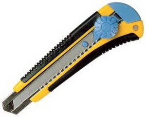 Нож 18мм с сегментированным лезвием BRIGADIER 63338
