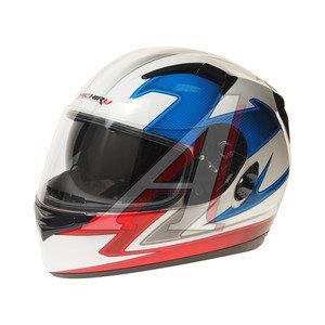 Шлем мото (интеграл) MICHIRU Tricolor (с солнцезащитным стеклом) MI 162 XL, 4680329005601