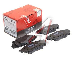 Колодки тормозные LEXUS RX350 (10-) задние (4шт.) TRW GDB3497