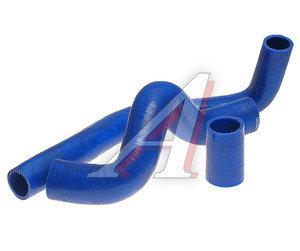 Патрубок УАЗ-3163 Патриот дв.ЗМЗ-409, ЕВРО-2,3 радиатора с кондиционером комплект 3шт. синий силикон 31631-1303028