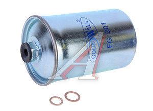 Фильтр топливный ГАЗ-3110i,31029i,3102i тонкой очистки (дв.ЗМЗ-406) (гайка) GOODWILL 31029-1117010 FG-201, FG-201, 31029-1117010-50