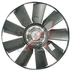 Вентилятор КАМАЗ-ЕВРО 704мм с вязкостной муфтой и обечайкой СБ (дв.740.50,51,740.61,62) ТЕХНОТРОН 020002748, 21-404