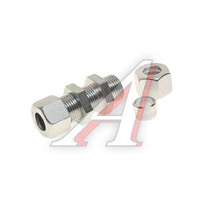Штуцер соединительный прямой M18/L-33хM18мм с гайками (фитинг резьбовой) сталь HALDEX 032057209, 0518205740
