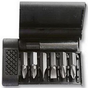 """Набор бит 1/4"""" крестовых PH, шлицевых SL + держатель магнитный (пластиковый бокс) 7 предметов SPARTA 113945"""